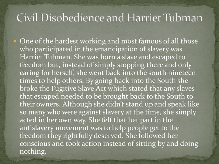 Civil Disobedience and Harriet Tubman