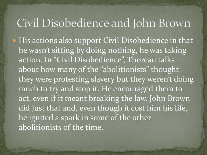 Civil Disobedience and John Brown