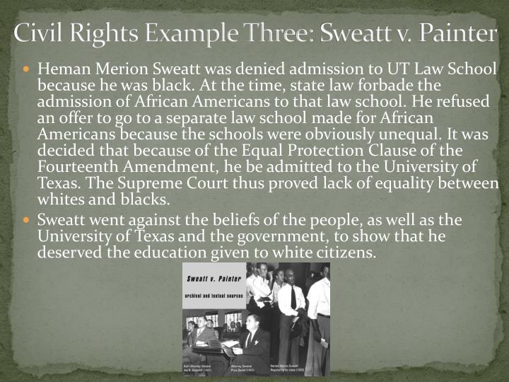 Civil Rights Example Three: