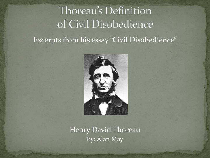Thoreau's Definition