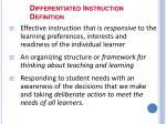differentiated instruction definition