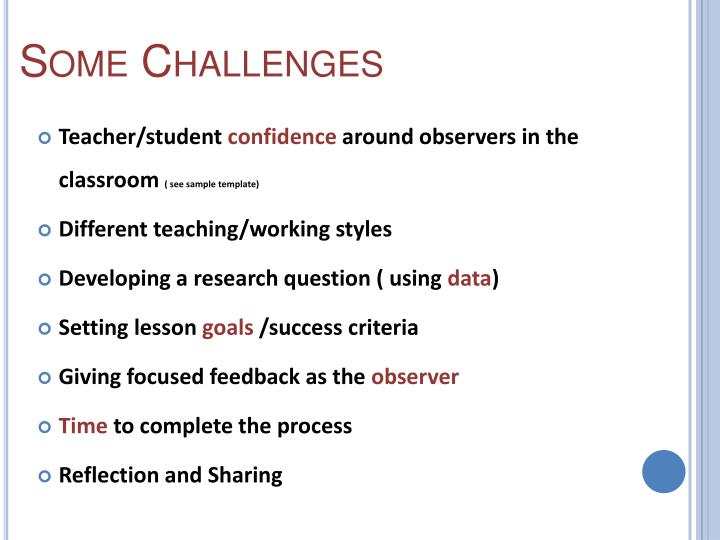 Some Challenges
