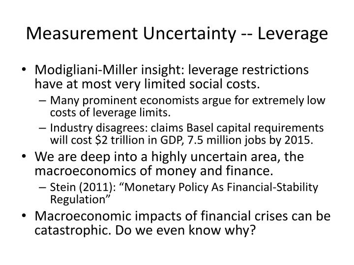 Measurement Uncertainty -- Leverage