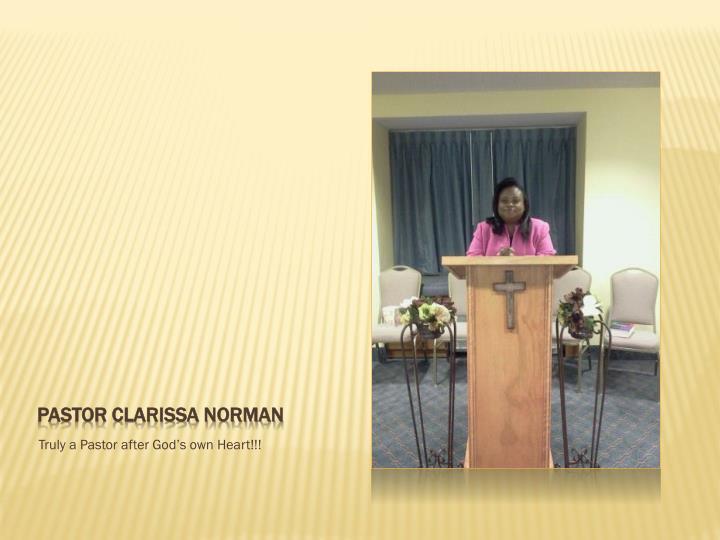 Pastor Clarissa Norman