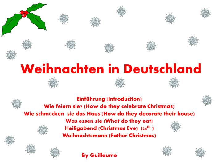 ppt weihnachten in deutschland powerpoint presentation. Black Bedroom Furniture Sets. Home Design Ideas