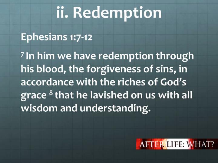 ii. Redemption