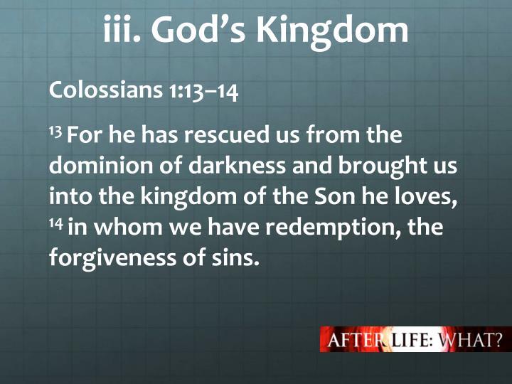 iii. God's