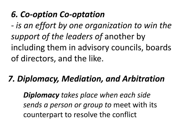 6. Co-option Co-optation