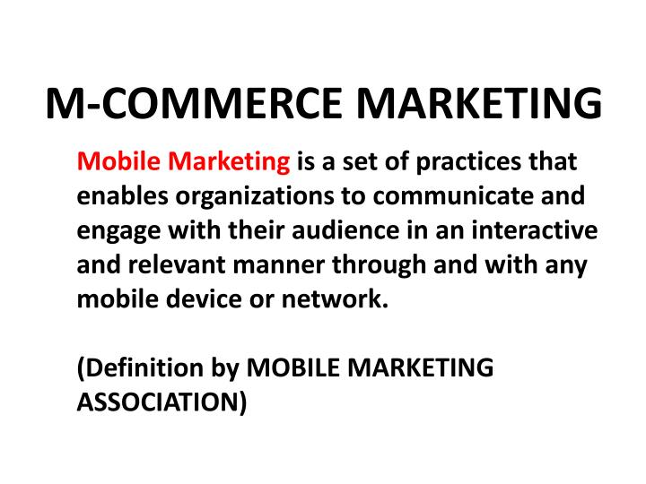 M-COMMERCE MARKETING