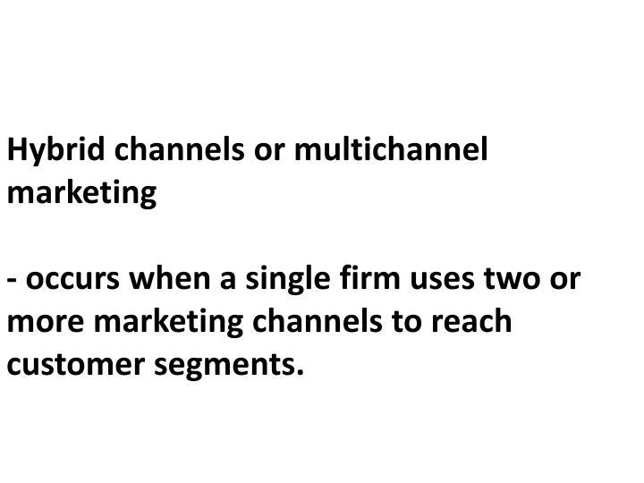 Hybrid channels