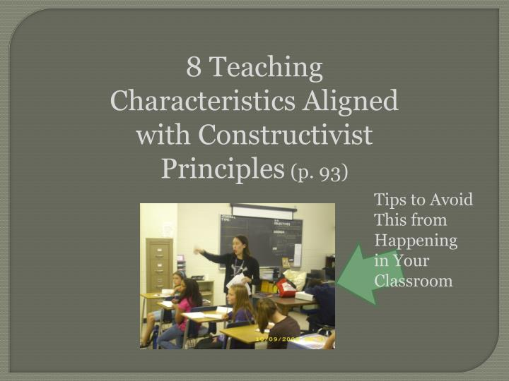 8 Teaching Characteristics Aligned with Constructivist Principles