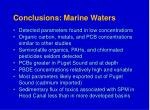 conclusions marine waters