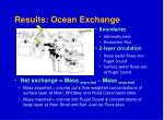 results ocean exchange