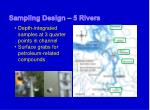 sampling design 5 rivers