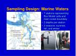 sampling design marine waters
