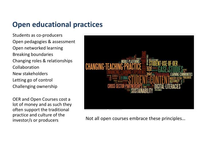 Open educational practices