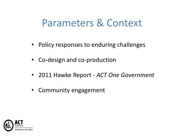 Parameters & Context