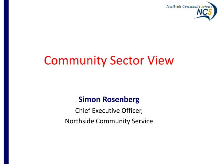 Community Sector View