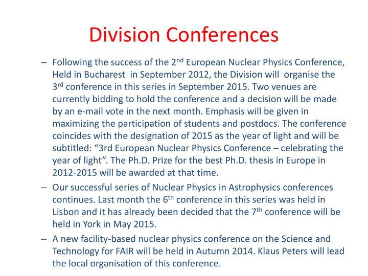Division Conferences