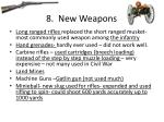 8 new weapons