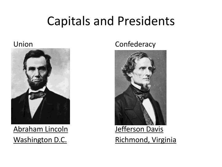 Capitals and Presidents