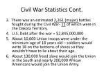 civil war statistics cont