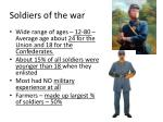 soldiers of the war