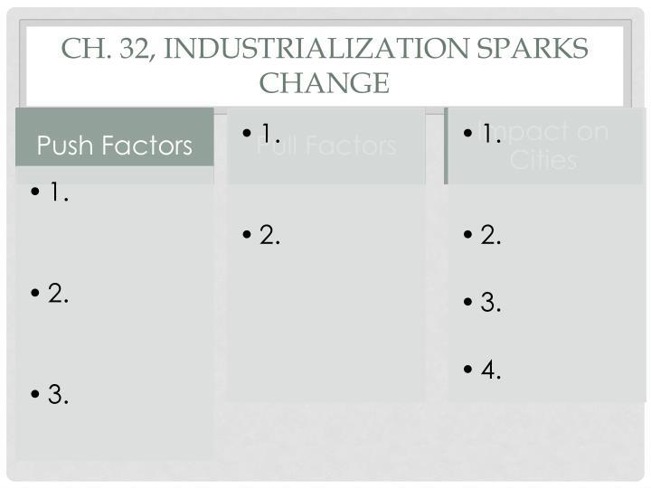 Ch. 32, INDUSTRIALIZATION SPARKS CHANGE
