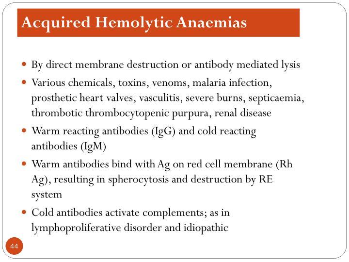 Acquired Hemolytic