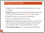 blood loss anemias