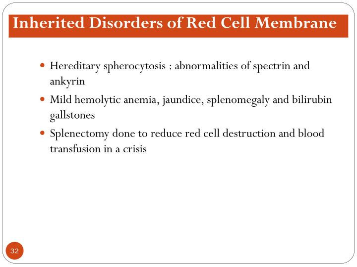 Inherited Disorders of Red Cell Membrane