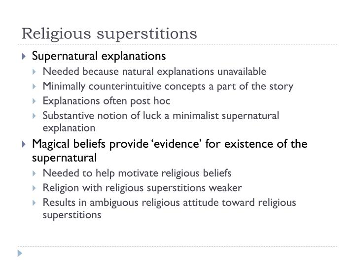 Religious superstitions