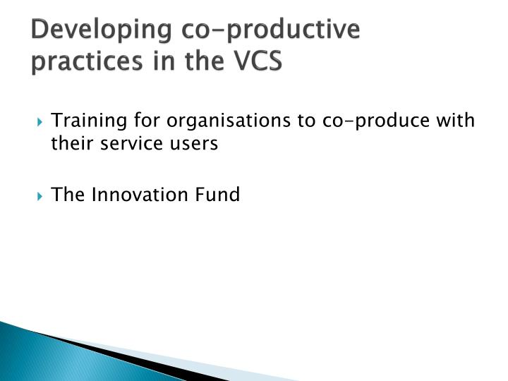 Developing co-productive practices