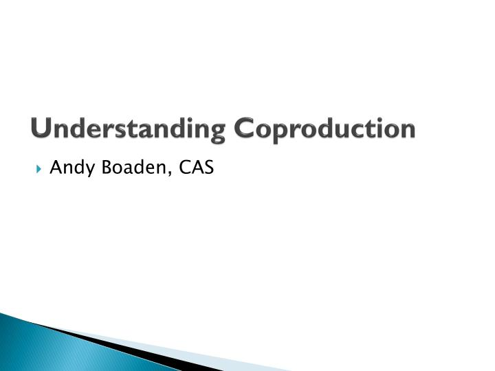 Understanding coproduction