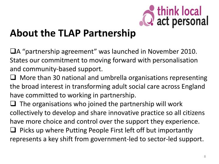 About the TLAP Partnership