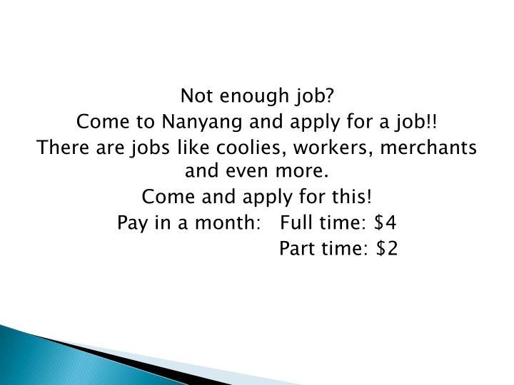 Not enough job?