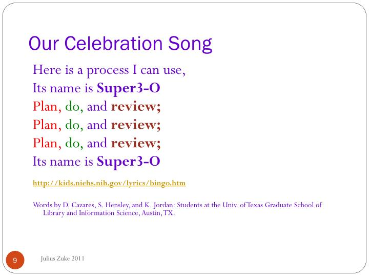 Our Celebration Song
