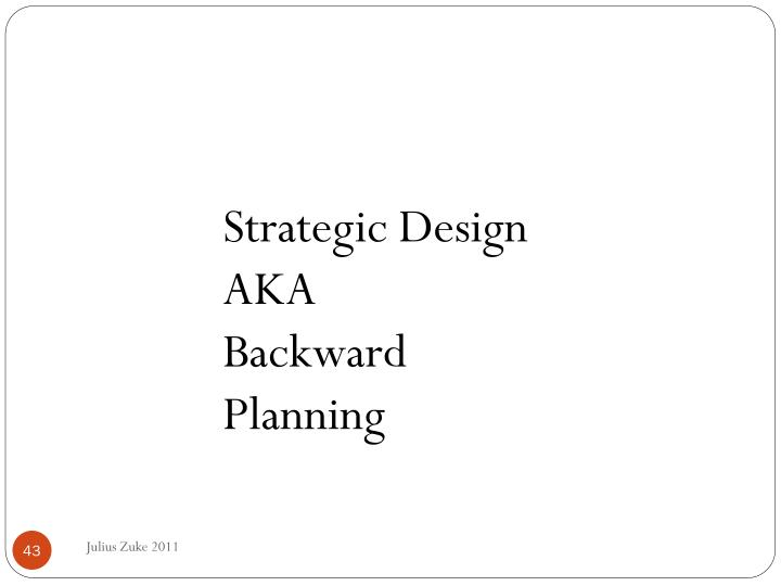 Strategic Design