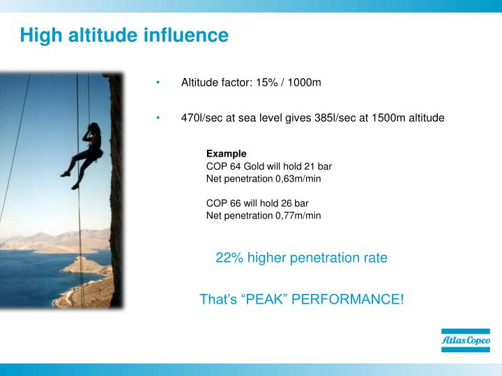 High altitude influence