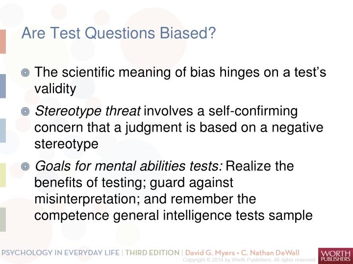 Are Test Questions Biased?