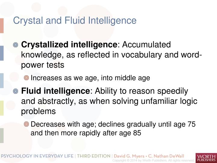 Crystal and Fluid Intelligence