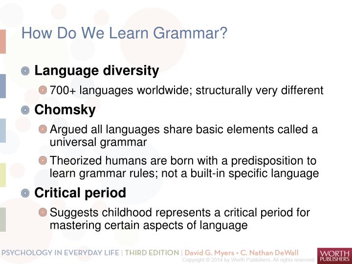 How Do We Learn Grammar?