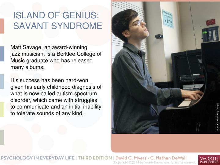 ISLAND OF GENIUS: SAVANT SYNDROME