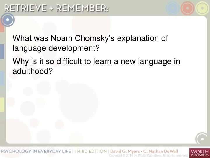 What was Noam Chomsky's