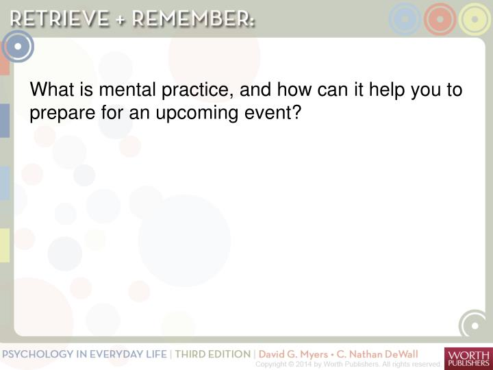 What is mental practice, and how can