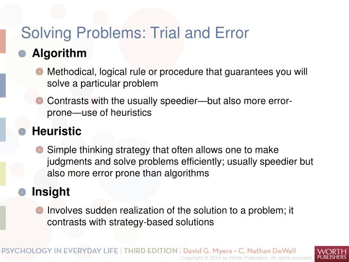 Solving Problems: Trial and Error