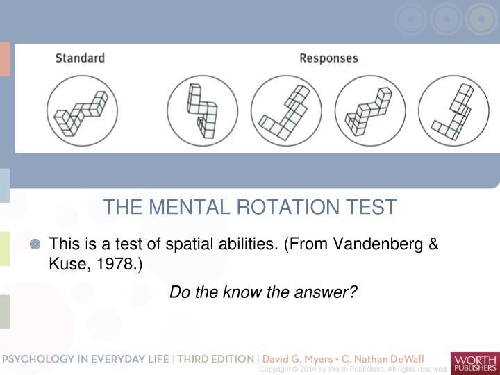 THE MENTAL ROTATION TEST
