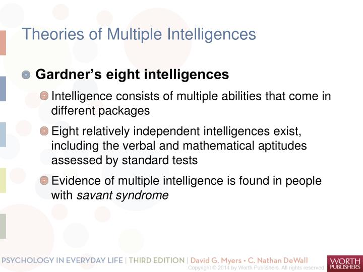 Theories of Multiple Intelligences