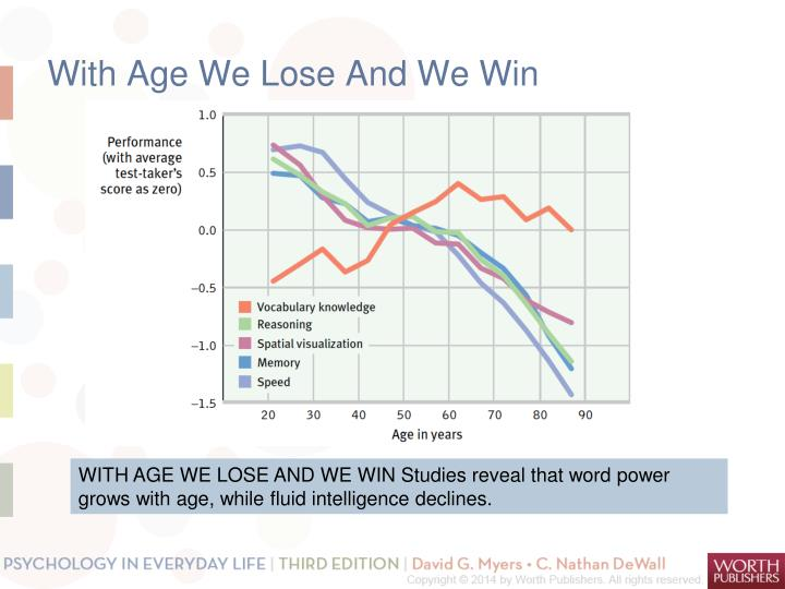 With Age We Lose And We Win