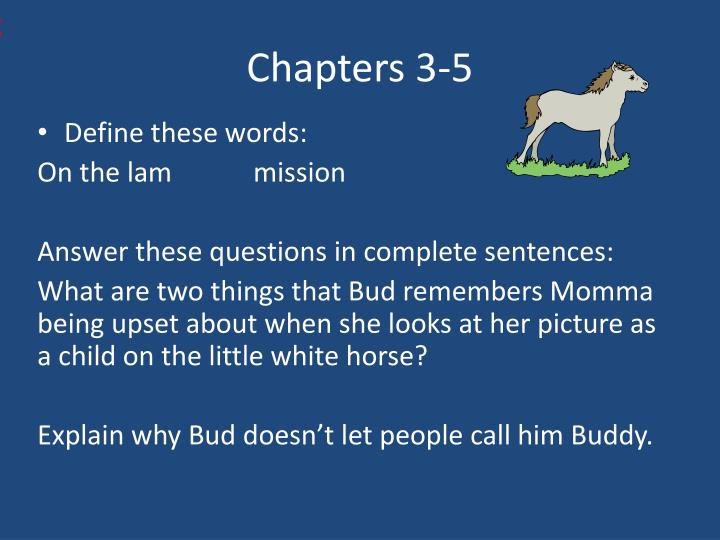 Chapters 3-5